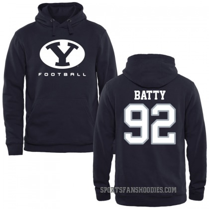 BYU Cougars Tyler Batty Navy Football Pullover Hoodie