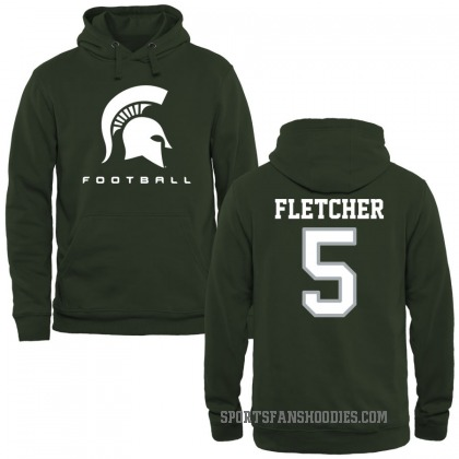 Michigan State Spartans Michael Fletcher Green Football Pullover Hoodie
