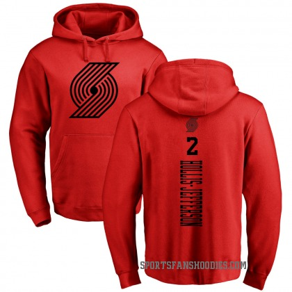 Portland Trail Blazers Rondae Hollis-Jefferson Red One Color Backer Pullover Hoodie