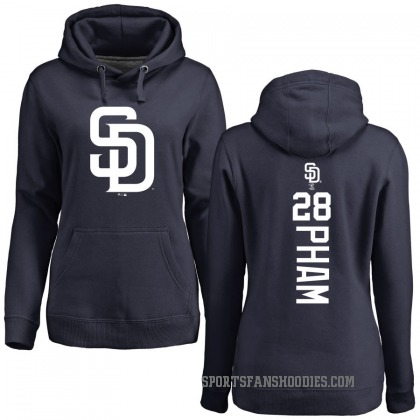 Women's San Diego Padres Tommy Pham Navy Backer Pullover Hoodie